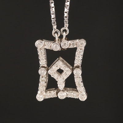 14K Diamond Shape Changing Necklace