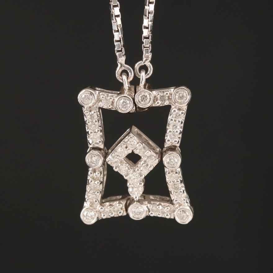 14K Diamond Shape Changing Necklace