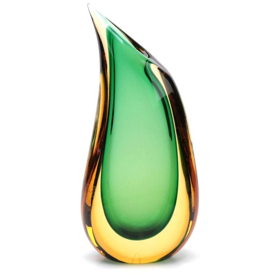 Luigi Onesto for Oggetti Teardrop Murano Art Glass Vase