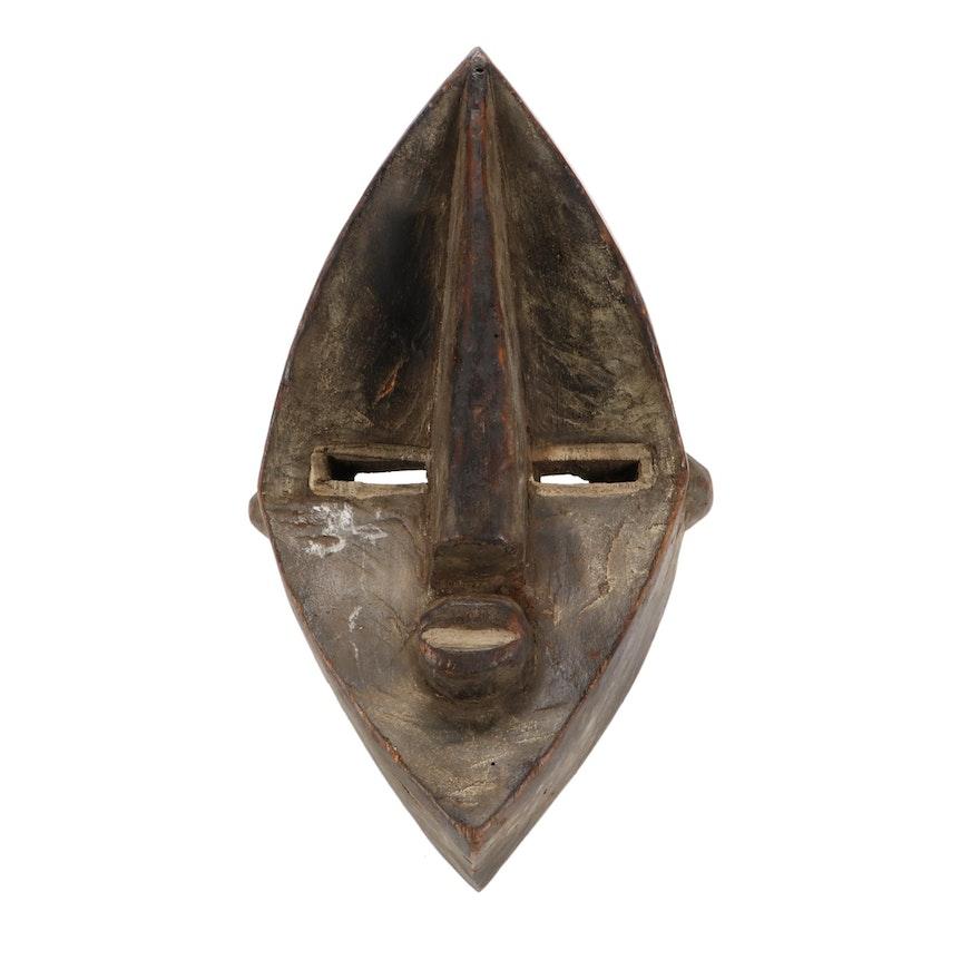 Lwalwa Hand-Carved Wood Mask, Democratic Republic of the Congo