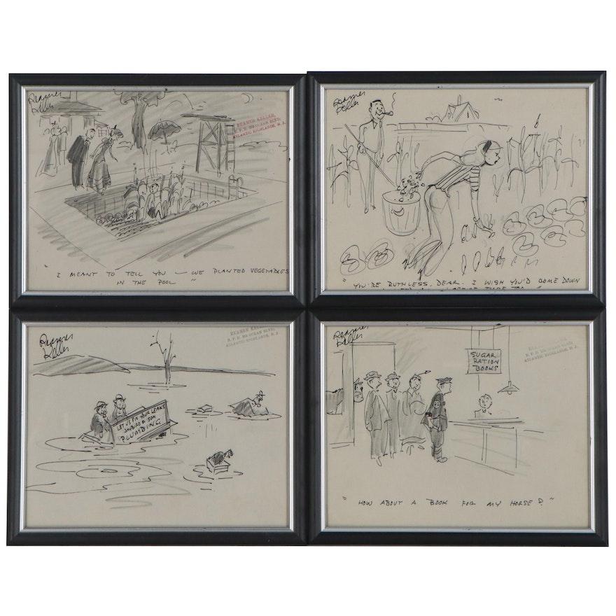 Reamer Keller Graphite and Ink Drawings