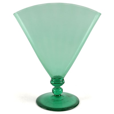Steuben Pomona Green Art Glass Vase, Early 20th Century