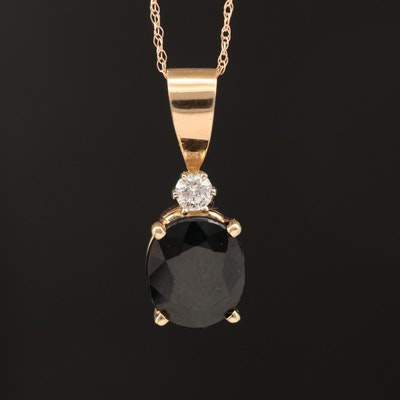 14K 4.04 CT Sapphire and Diamond Necklace