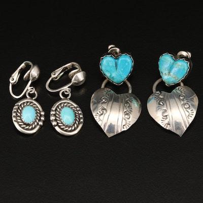 Sterling Silver Earrings Featuring Donovan Skeets Navajo