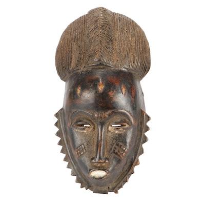 Baule Style Wood Mask, Côte d'Ivoire