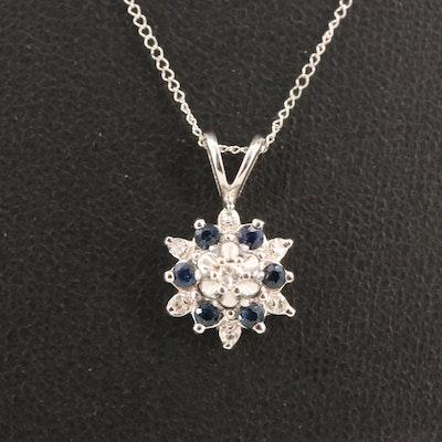 14K Diamond and Sapphire Necklace