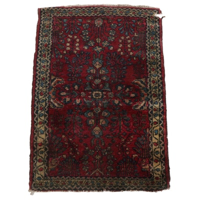 1'11 x 2'10 Hand-Knotted Persian Sarouk Accent Rug