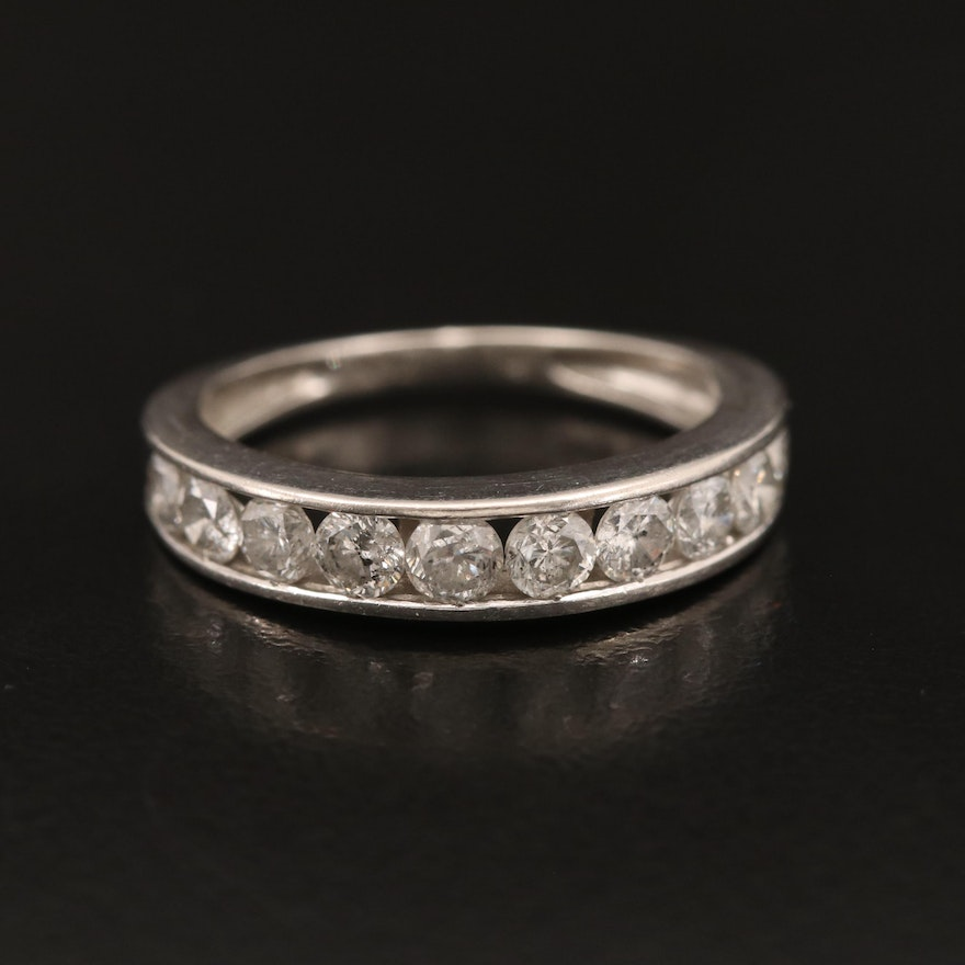 Platinum 1.00 CTW Channel Set Diamond Band