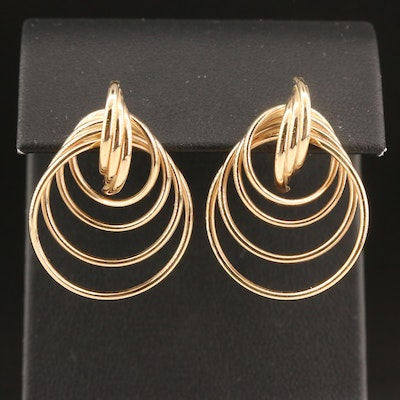 14K Graduated Circle Earrings