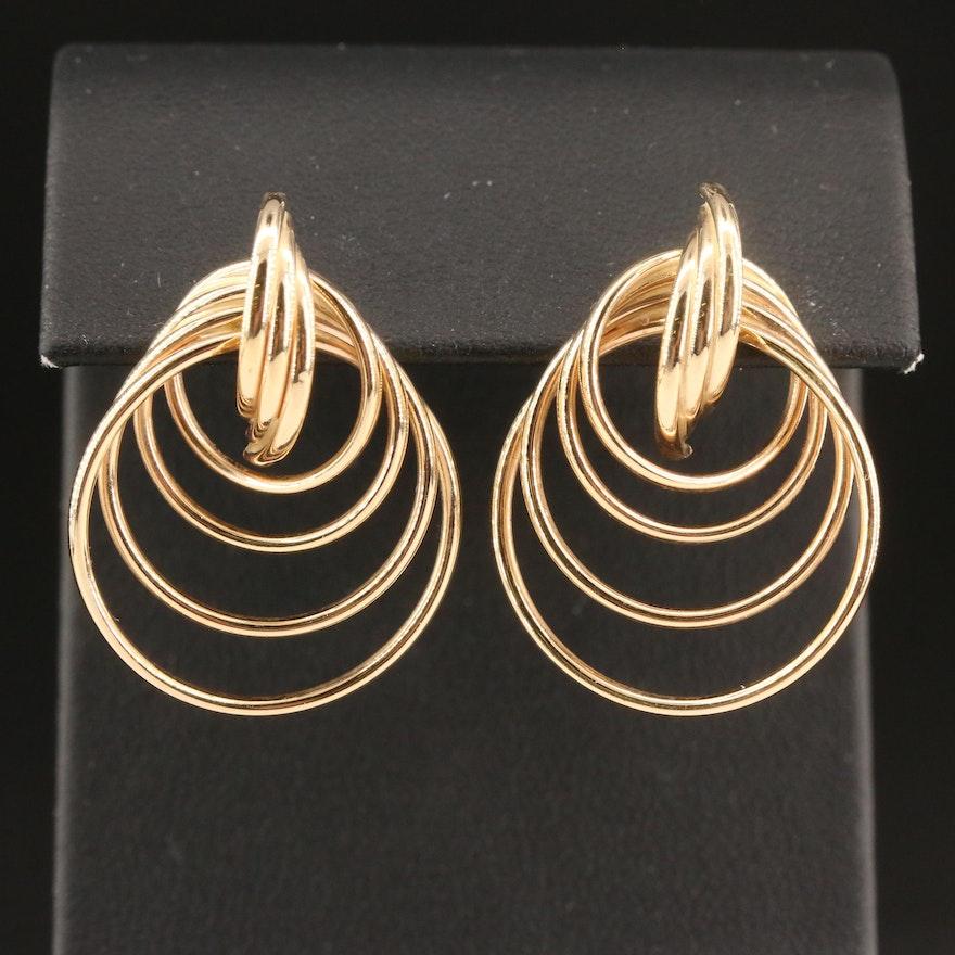 14K Graduated Circle Earrings