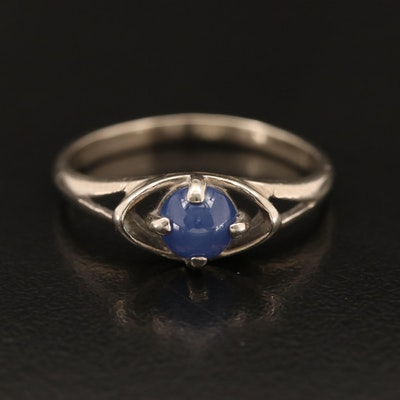 Vintage 10K Sapphire Ring