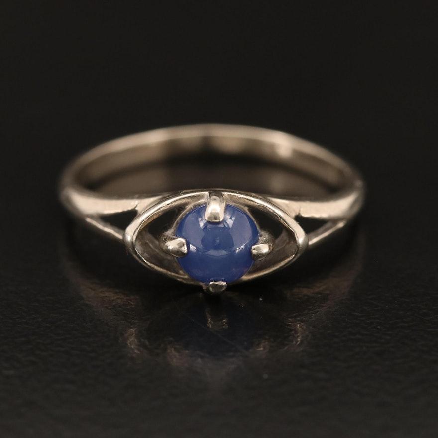 Vintage 10K Sapphire Ring