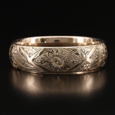 1920s Finberg Manufacturing Company Floral Hinged Bangle