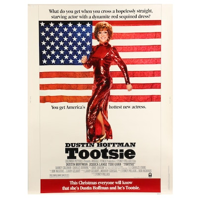 """""""Tootsie"""" Halftone 30"""" x 40"""" Theatrical Release Movie Poster, 1982"""