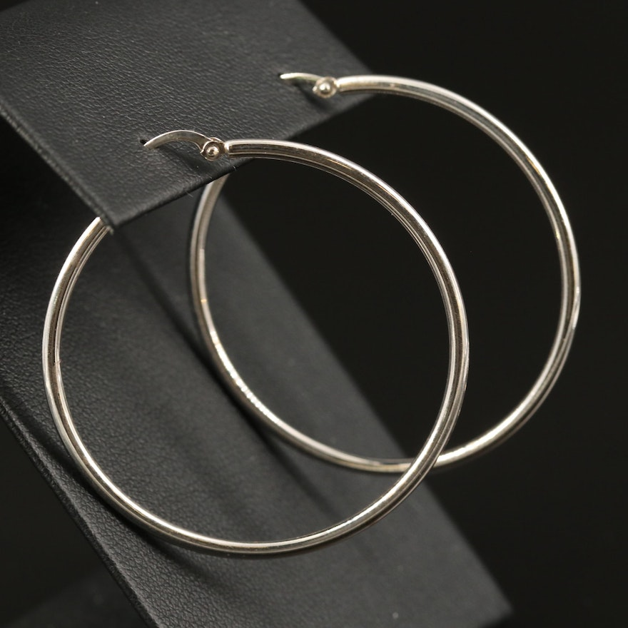 14K Circular Hoop Earrings
