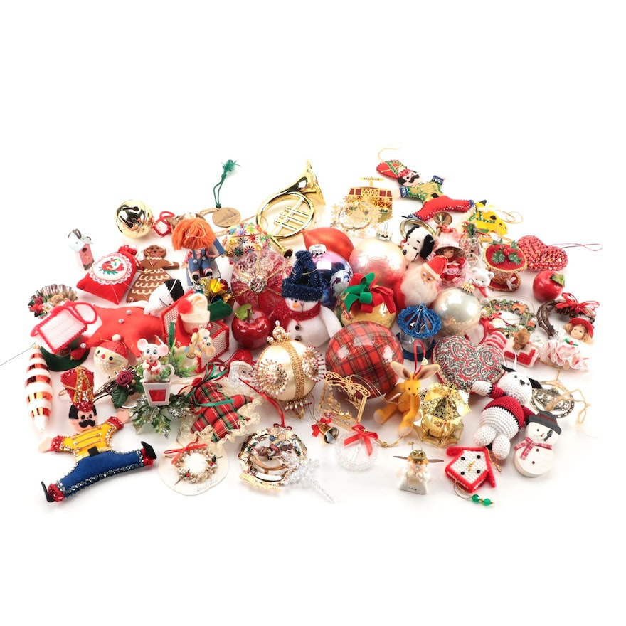 Assorted Christmas Ornaments, Mid to Late 20th Century