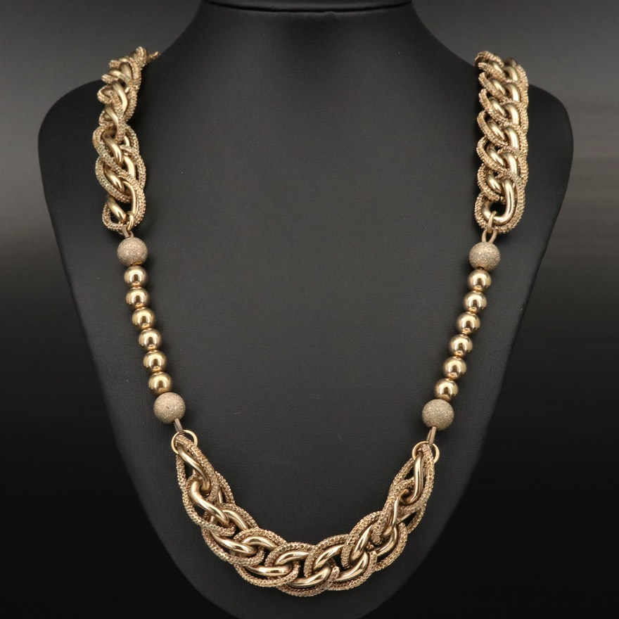 Dolce & Gabbana Chain and Bead Necklace