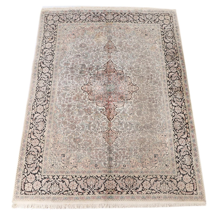 7'1 x 10'4 Hand-Knotted Indo-Persian Peshawar Wool Rug