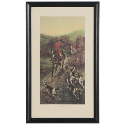 "Fox Hunting Offset Lithograph ""The Find,"" Late 20th Century"
