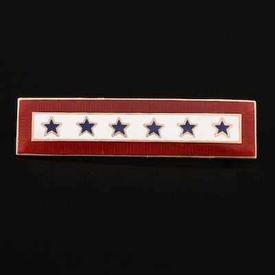 "World War II Era ""Sons in Service"" 10K Enamel Pin"