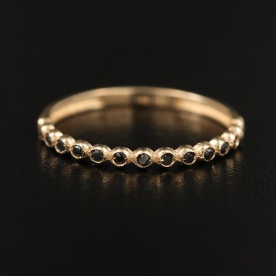 14K Bezel Set Diamond Band