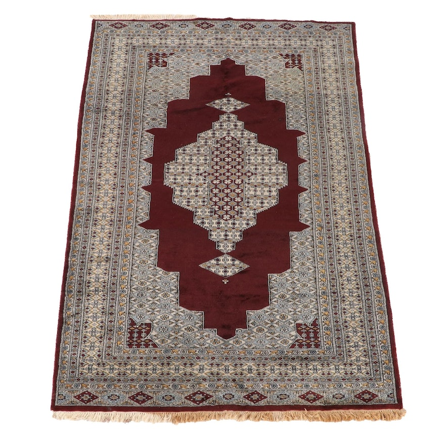 5'2 x 8'4 Hand-Knotted Pakistani Wool Area Rug