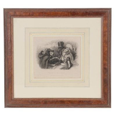 "Thomas Landseer Etching from ""Monkey-ana, or Men in Miniature"""