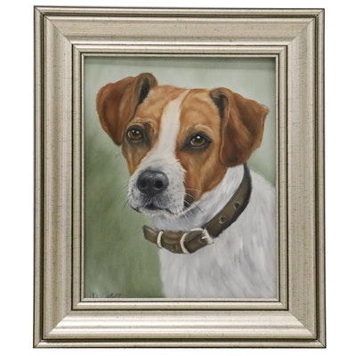 Joseph Veillette Oil Painting of Jack Russell, 2020