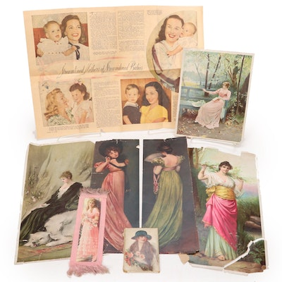 Chromolithographs and Offset Lithographs of Women
