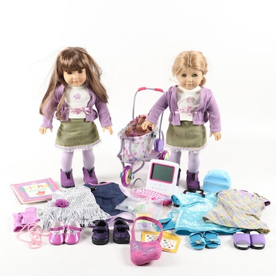 American Girl Dolls with Outfits, Baby Doll Set and Computer Set