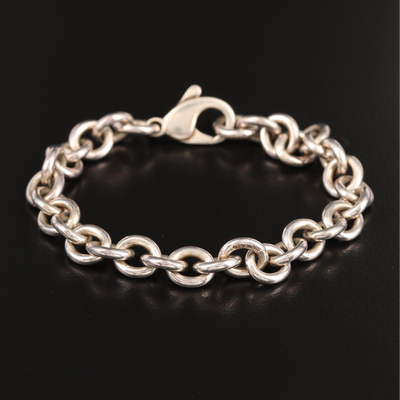 Tiffany & Co. Sterling Silver Rolo Chain Bracelet