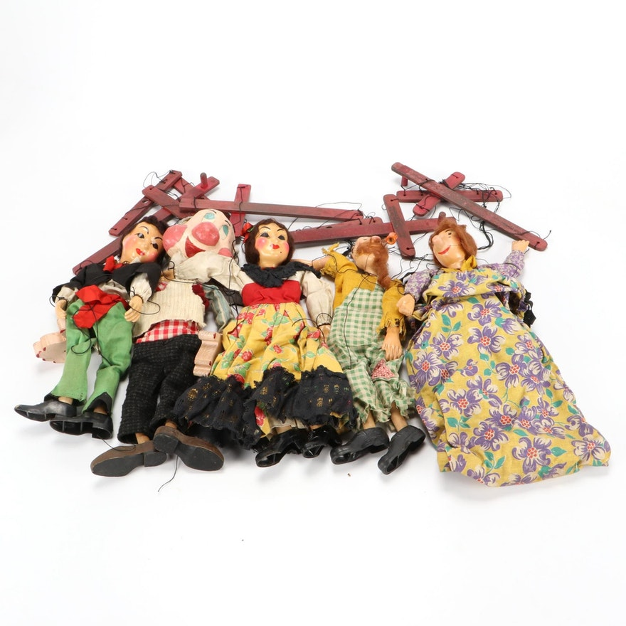 Hand-Painted Marionette String Puppets