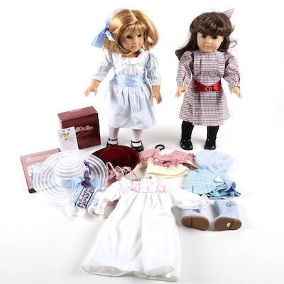 """American Girl """"Samantha"""" and """"Nellie"""" Dolls with Additional Outfits and Movie"""