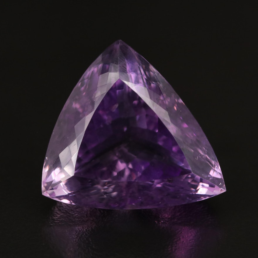 Loose 61.20 CT Triangle Faceted Amethyst