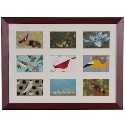 Offset Lithographs after Charley Harper Bird Illustrations, 21st Century
