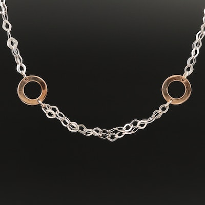 14K Station Necklace