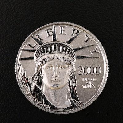 Low Mintage 2000 $25 Platinum Eagle Coin