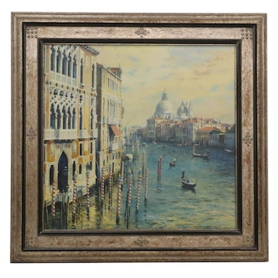 "Curt Walters Embellished Offset Lithograph ""The Opal Venice,"" 1998"