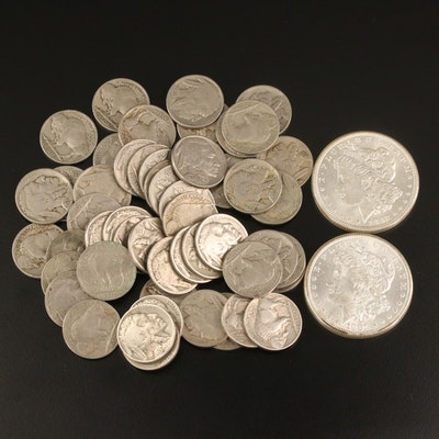 Morgan Silver Dollars and Buffalo Nickels