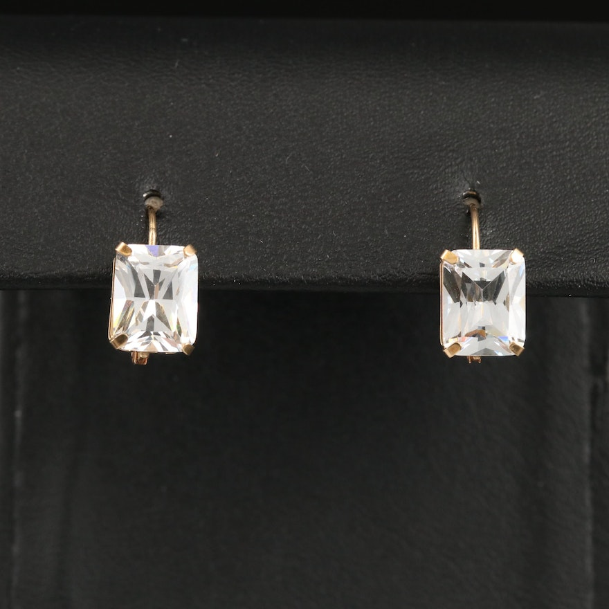14K Cubic Zirconia Earrings