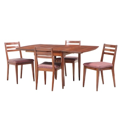Five-Piece Consider H. Willett Mid Century Modern Cherrywood Dining Set