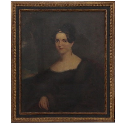 Portrait Oil Painting of a Lady, Late 19th Century