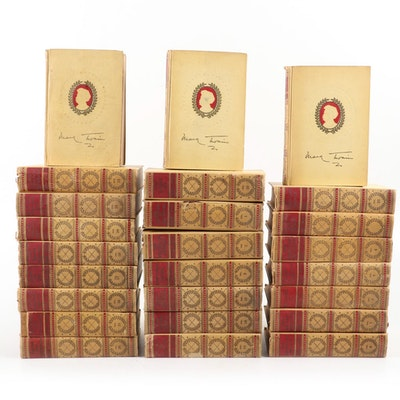 """The Complete Works of Mark Twain"", 25 Volume Collection, Early 20th Century"