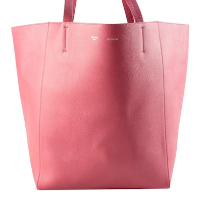 Céline Phantom Pink Textured Leather Tote