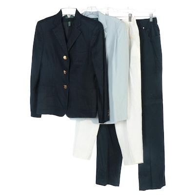 Lauren Ralph Lauren Linen and Silk Jackets, Off-White Linen Pants and More