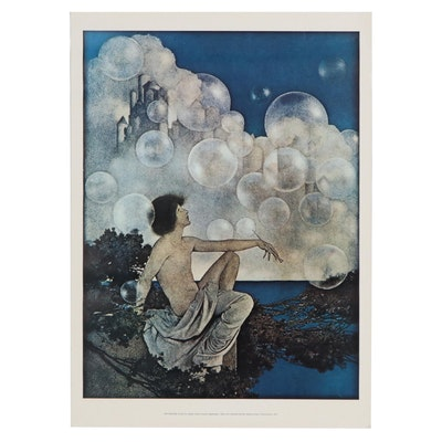 "Offset Lithograph after Maxfield Parrish ""Air Castles,"" 1973"