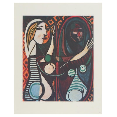 "Offset Lithograph after Pablo Picasso ""Girl Before a Mirror,"" 21st Century"