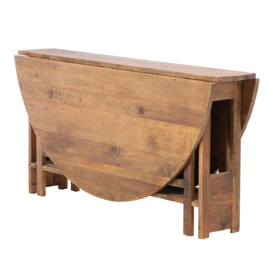 Arhaus Pine Gate-Leg Dining Table
