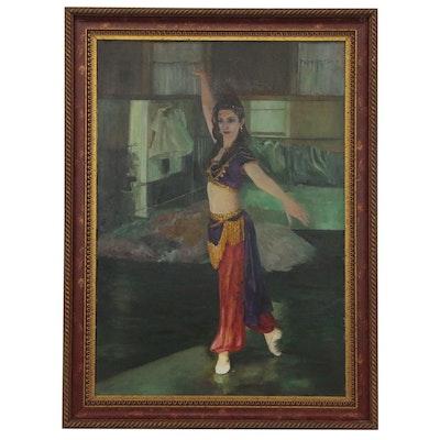 Benjamin Fortunado Marcune Oil Painting of Dancer, 21st Century