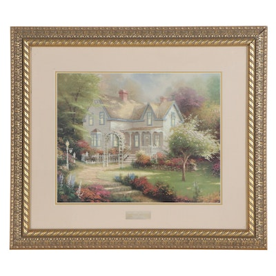 "Offset Lithograph after Thomas Kinkade ""Home is Where the Heart Is II"""